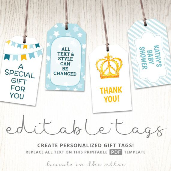 Printable Baby Shower Gift Tags Editable Party Favor Labels Etsy Gift Tag Template Gift Tags Printable Editable Gift Tags