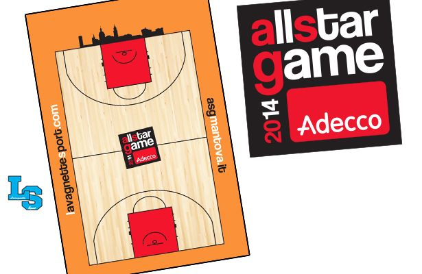 La lavagnetta ufficiale dell'Adecco All Star Game
