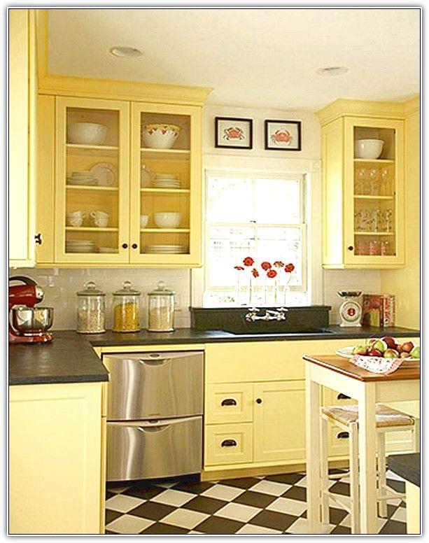 Butter Yellow Kitchen Cabinets Home Design Ideas Kitchen In 2018