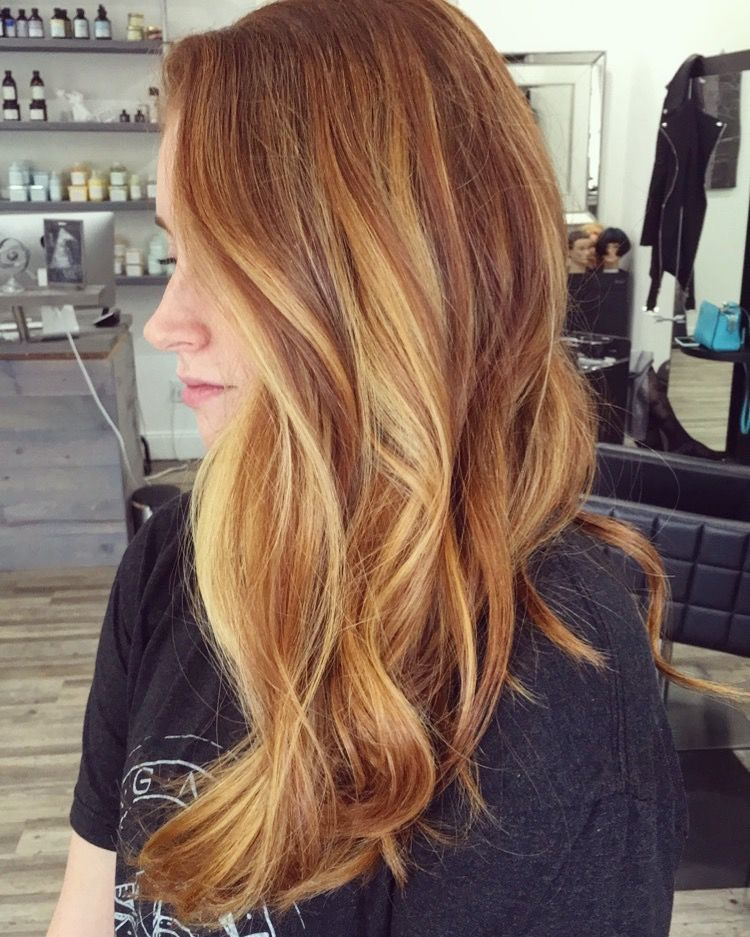 hair style and color strawberry balayage hair and 5612