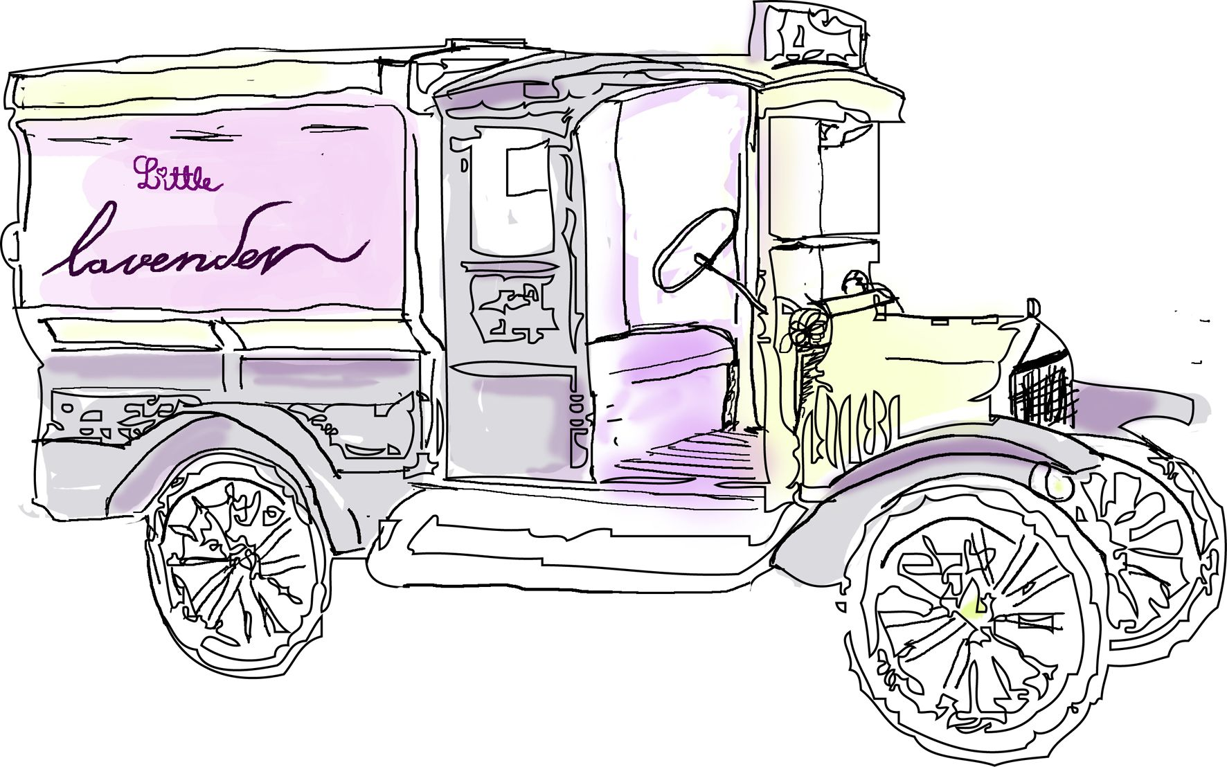 In my creative bubble I dream of having a little lavender car like this one! With a picnic in the back driving away from the hustle and bustle and into the warm summer meadows.