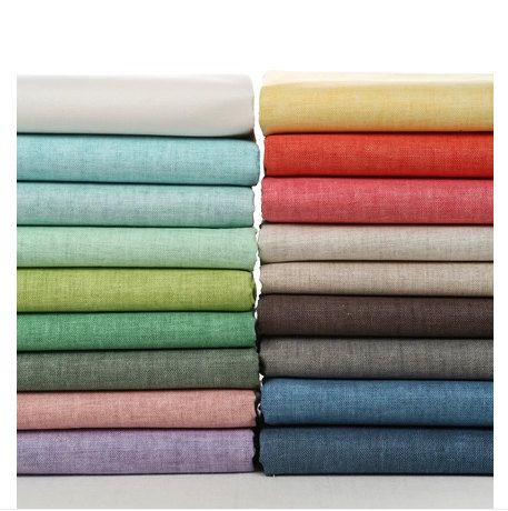 Korean Waterproof Linen Fabric Solid Color For Curtain Tablecloth Sofa Linen Fabric Cotton Linen Fabric Cleaning Fabric