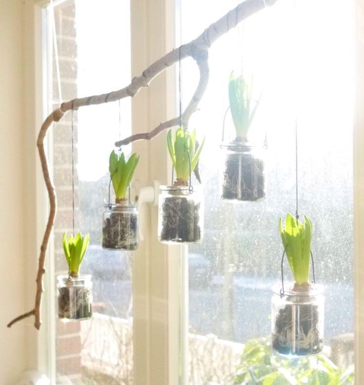 Federnde Fensterdekoration Spring Decorating Ideas In 2020