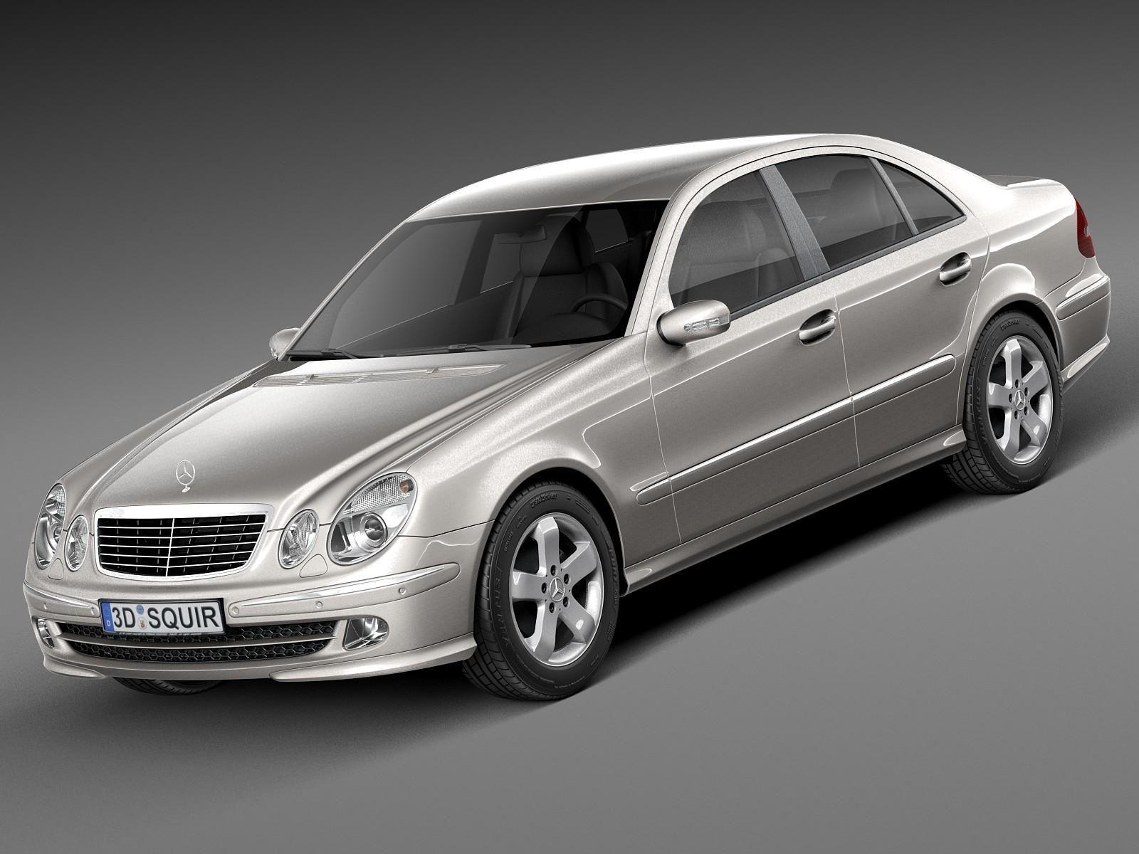 Mercedes Benz E Class W211 2002 2009 3d Model Ad Class Benz