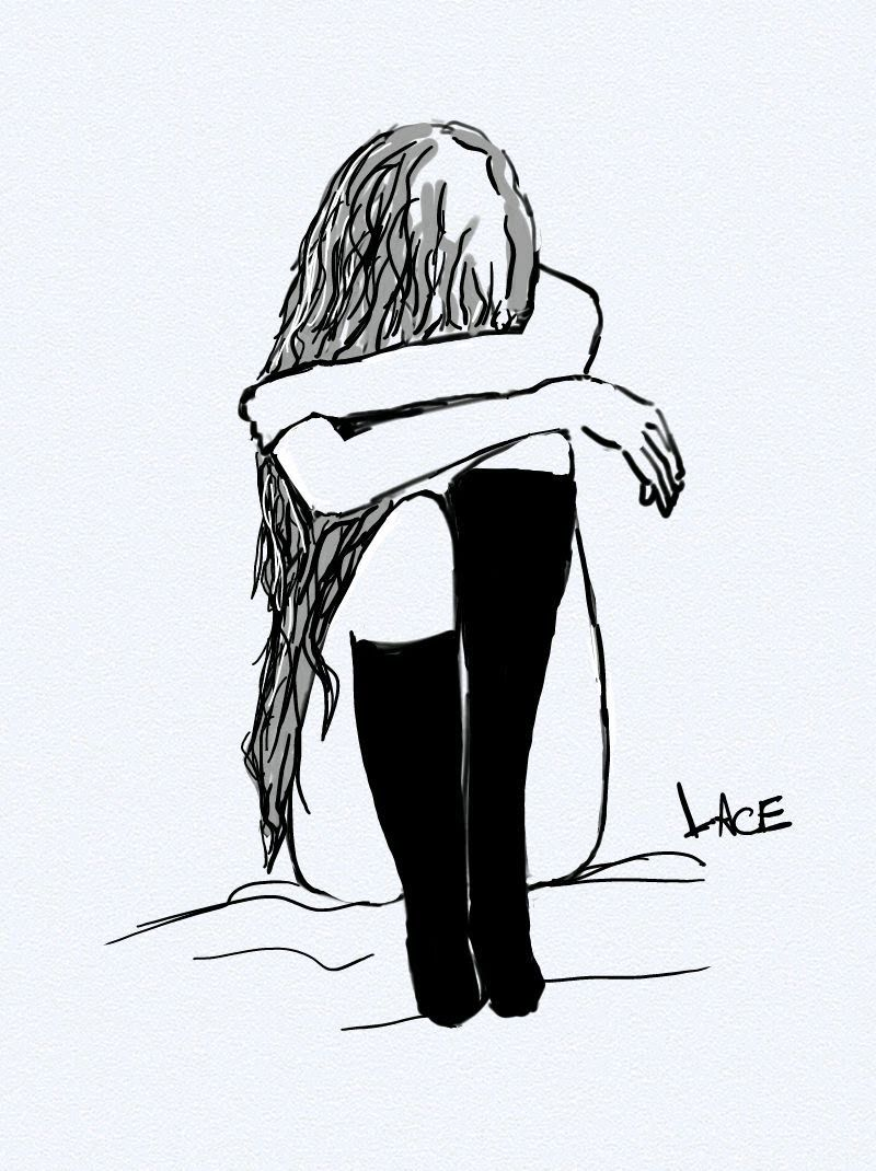 Easy Drawing Of A Sad Girl Sad Pictures To Draw Easy
