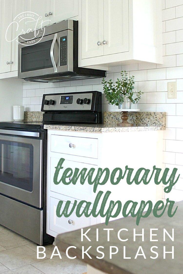 - White Subway Tile Temporary Backsplash - The Full Tutorial