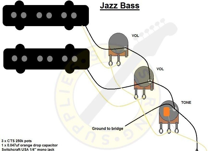 A b switch active buffered outputs parts layout and wiring diagram. If you  wanted to wire the stereo jack for … | Fender jazz bass, Bass guitar, Bass  guitar pickups | Guitar Wiring Actual |  | Pinterest