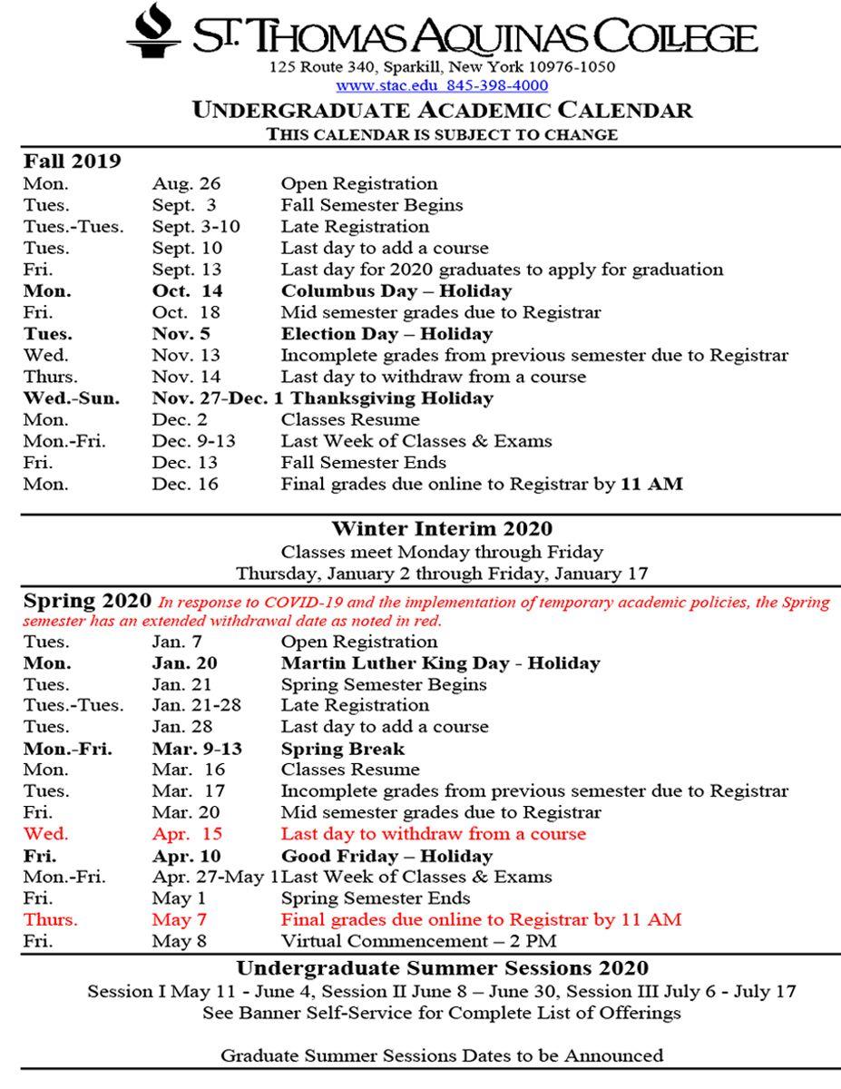 Csi Academic Calendar 2021 Photos
