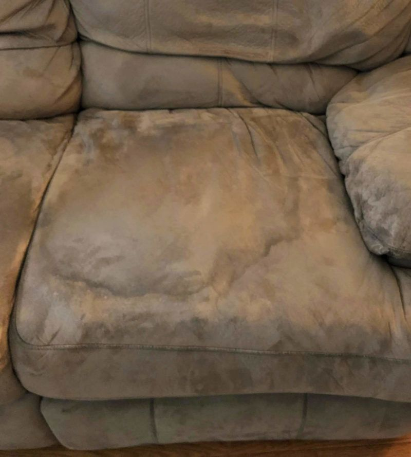 How To Get Stains Out Of Couch Cushions Banish Smells Too Natural Soap Mom House Cleaning Tips Clean Couch Microfiber Couch