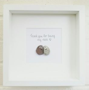 Pebble Art Picture Couple Framed, Personalised Wedding, Engagement, Christmas | eBay #steinbilderselbermachen