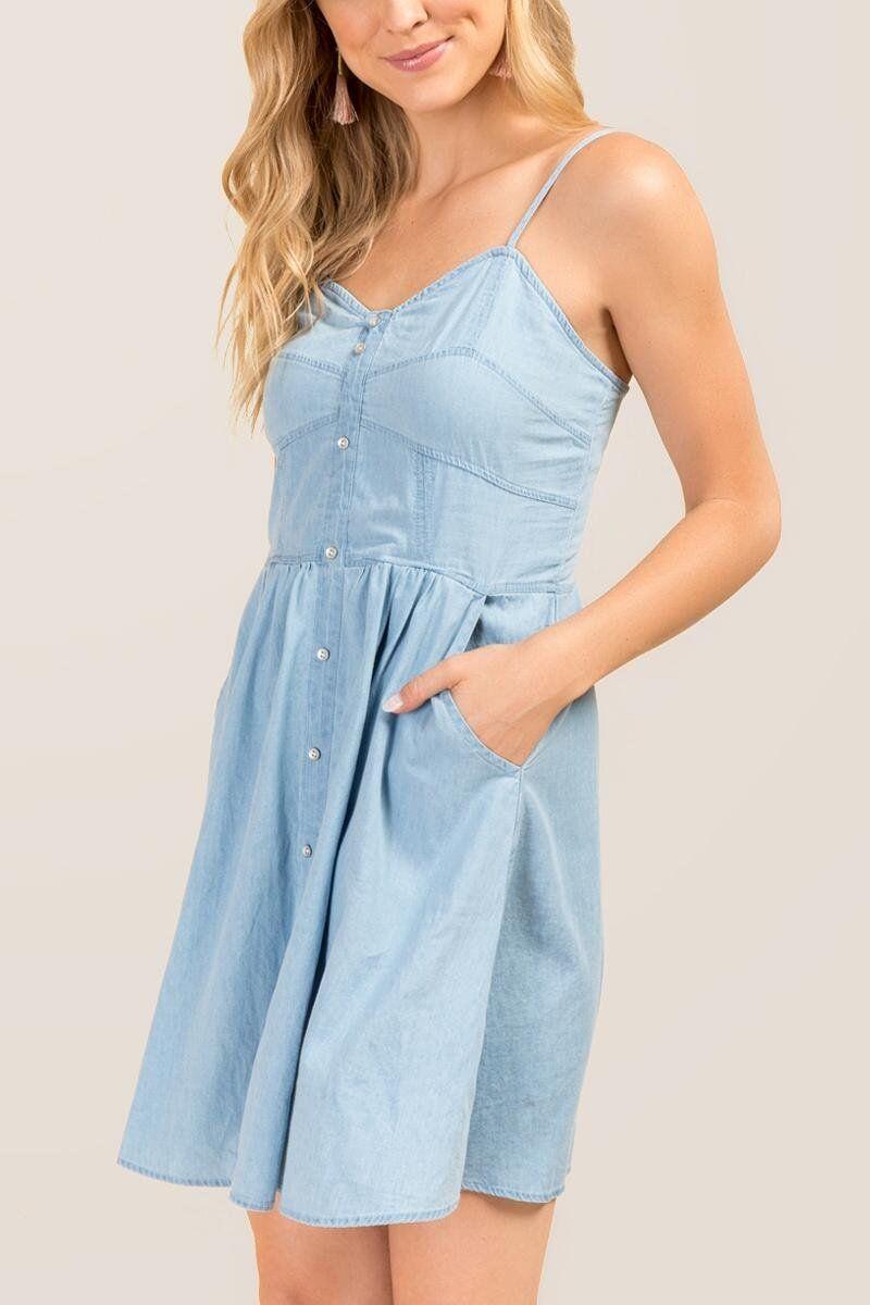 d5951a0b214 Jessi Sweetheart Chambray Dress