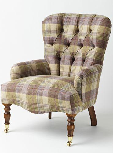 Nice Abraham Moon U0026 Sons Huntingtower Grape Tweed Chair