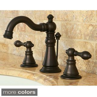 French Country Widespread Polished Brass Bathroom Faucet (Buckingham ...