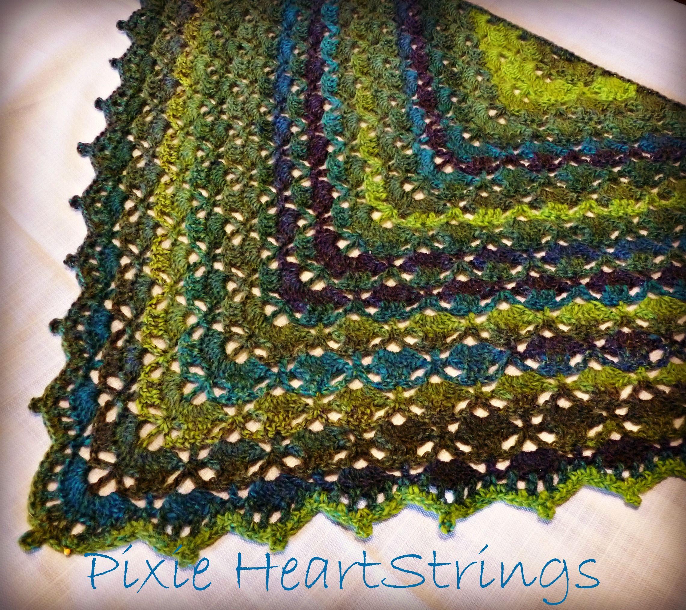 My version of the South Bay Shawlette... | Crochet shawls ...