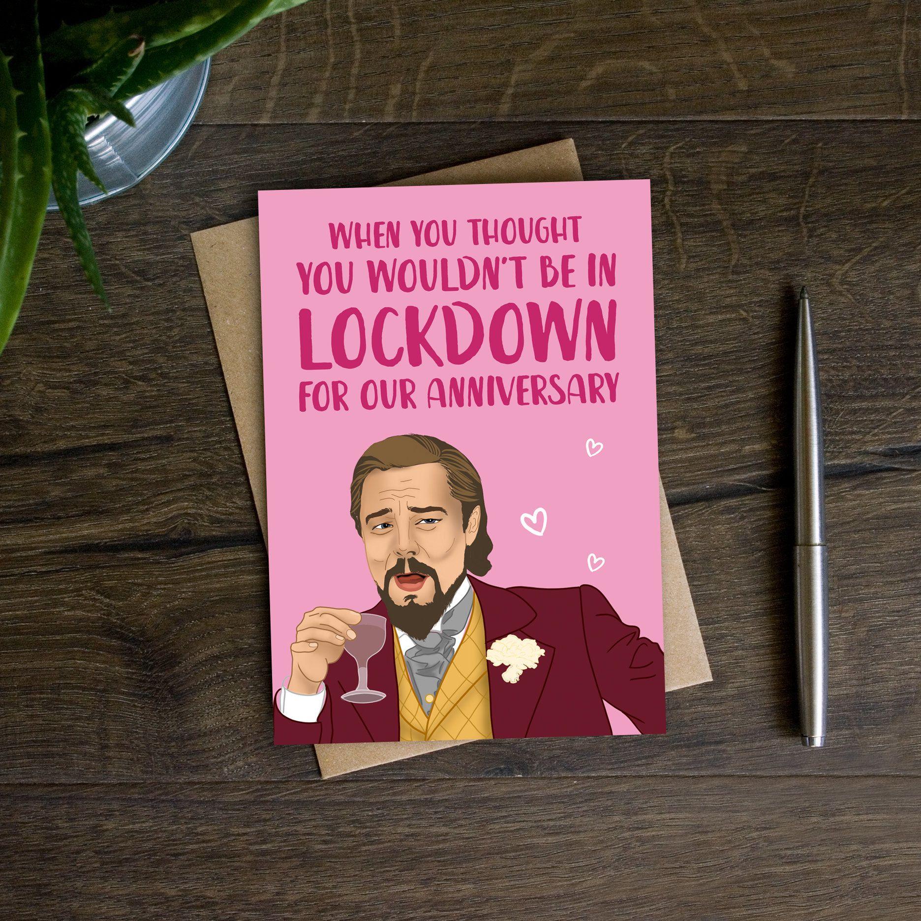 Funny Anniversary Card Django Unchained Meme Lockdown Etsy Funny Anniversary Cards Anniversary Funny Anniversary Cards