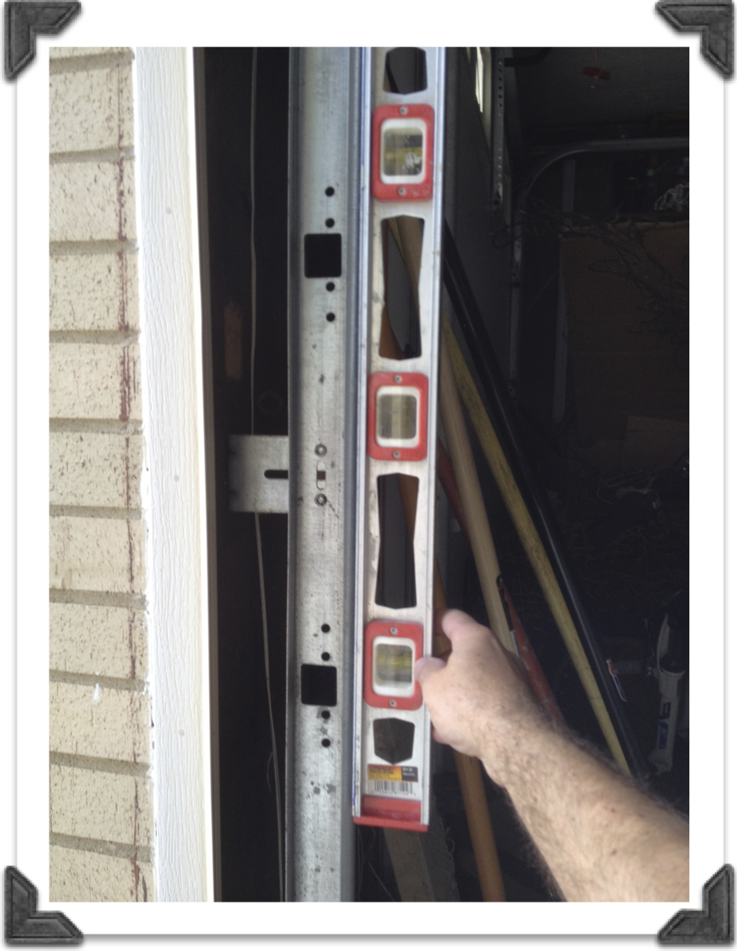 Plumb Garage Door Track Projects To Try Pinterest Garage Door