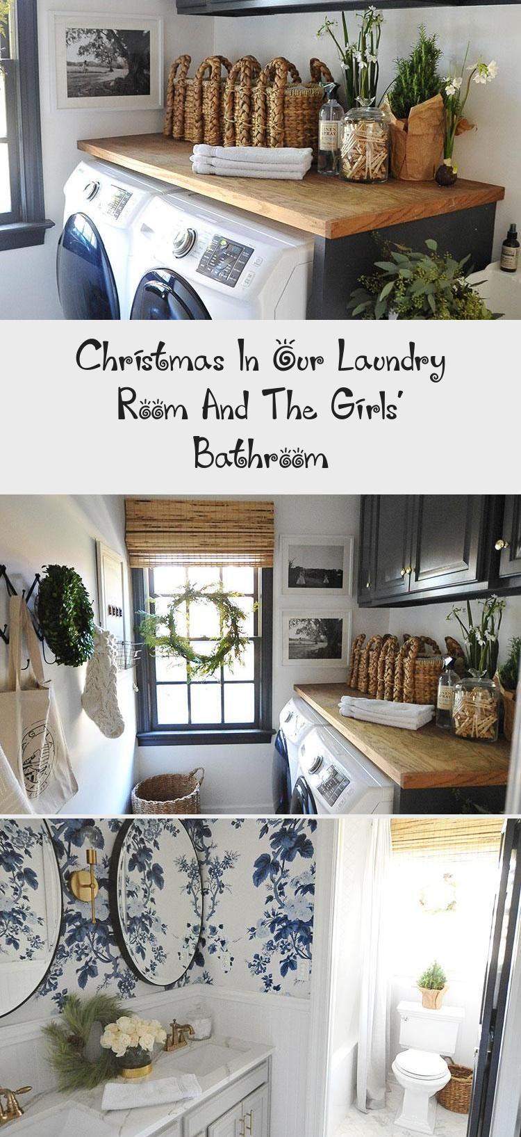 Our Christmas Laundry And Girls Bathroom Dear Lillie Studio Laundryroomart Modernlaundryroom Laundryroom In 2020 Girls Bathroom Vintage Laundry Room Laundry Room