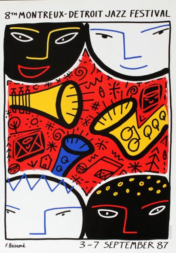 Montreaux-Detroit Jazz Festival 1987 | Posters Past