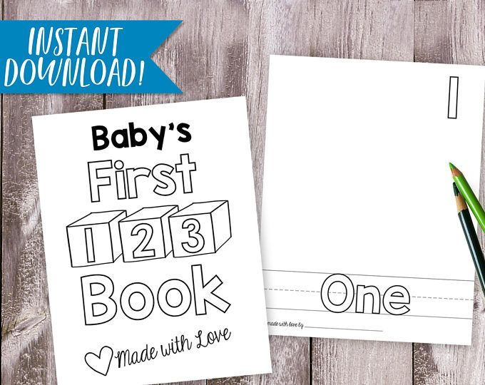 Numbers Book Printable Coloring Baby Book Baby Shower Etsy Baby Books Diy Diy Baby Stuff Diy Book