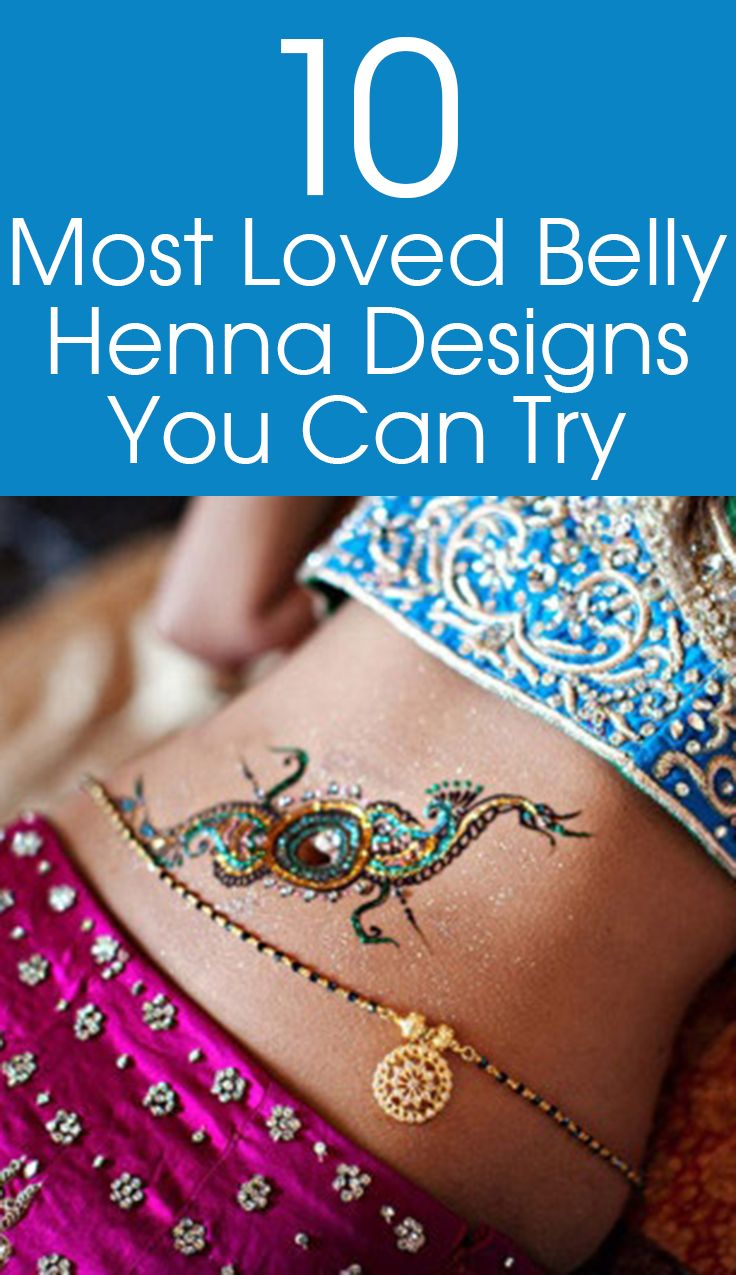 Top 10 Most Loved Belly Henna Designs You Can Try In 2019