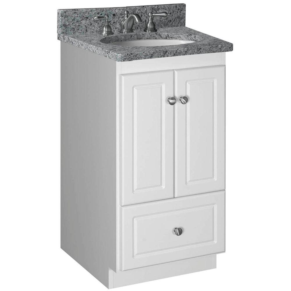 Simplicity By Strasser Ultraline 18 In W X 21 In D X 34 5 In H Simplicity Vanity With No Side Drawers In Satin White 01 196 2 The Home Depot Bathroom Vanity Base