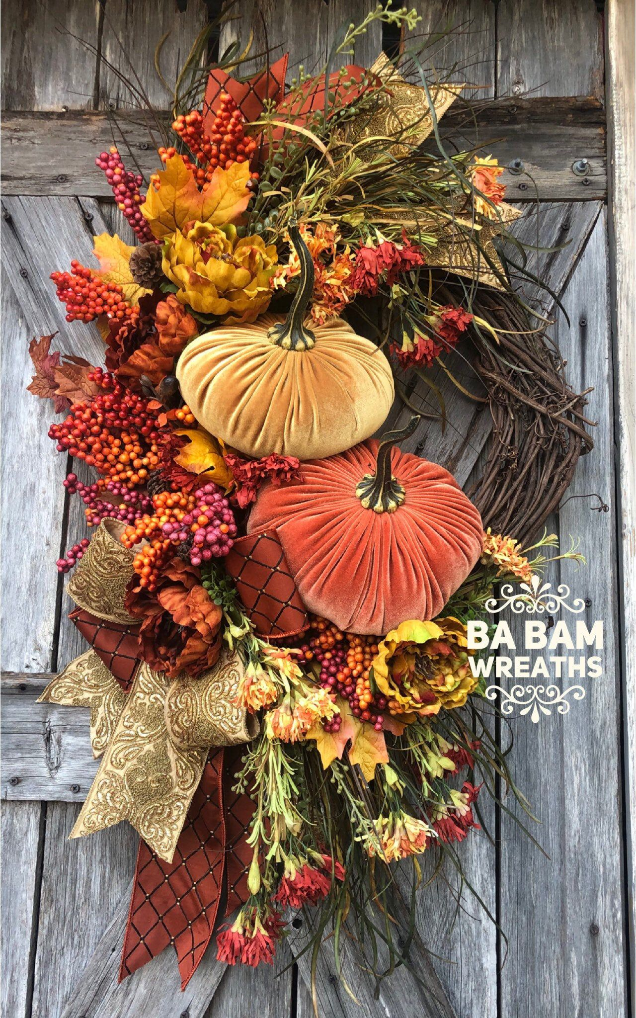 Fall Wreath, Fall Swag, Autumn Swag, Autumn Wreath, Rustic Fall Wreath, Halloween Wreath, XL Fall Wreath images