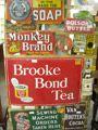 Antique Advertising Enamel Signs - Pre 1940s antique enamel signs, old shop showcards, old boxes, antique Australian advertising tins, cigar...