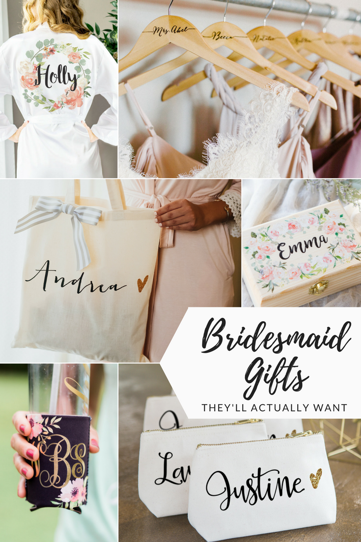 Gifts They\'ll Actually Want! Personalized #Bridesmaid Gifts - get ...