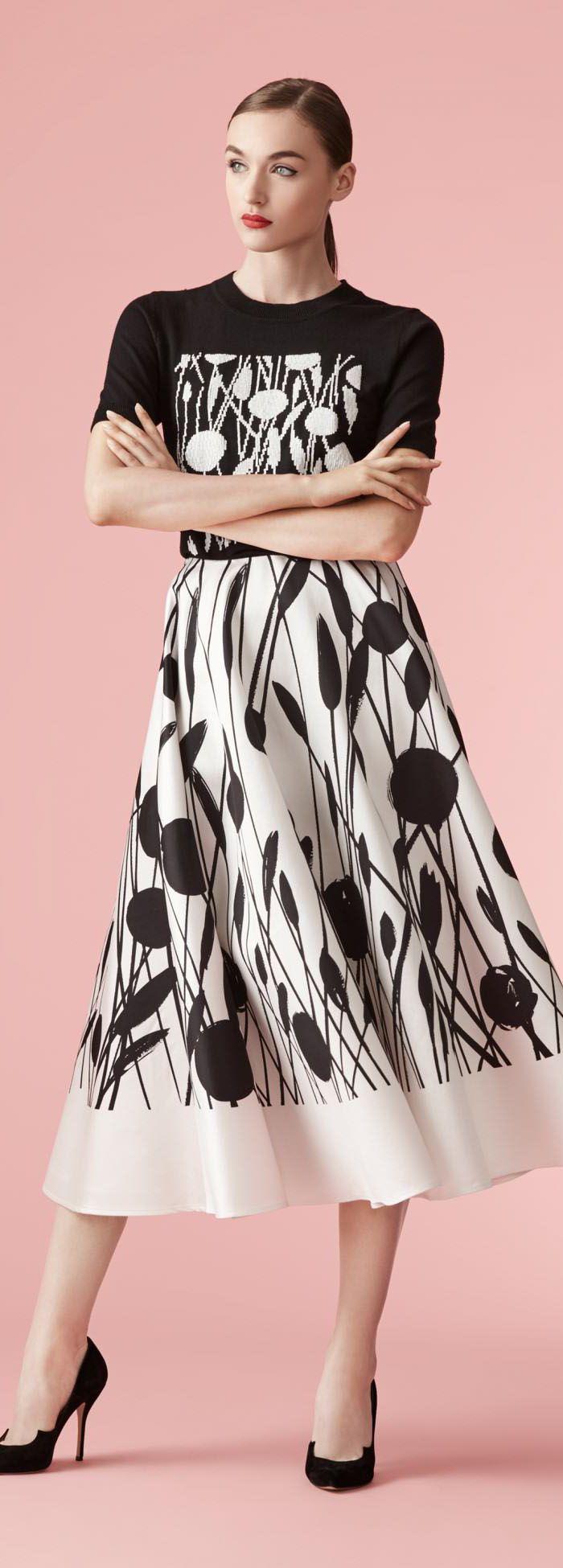 Carolina Herrera Resort 2017 Collection | moda corto blanco ...