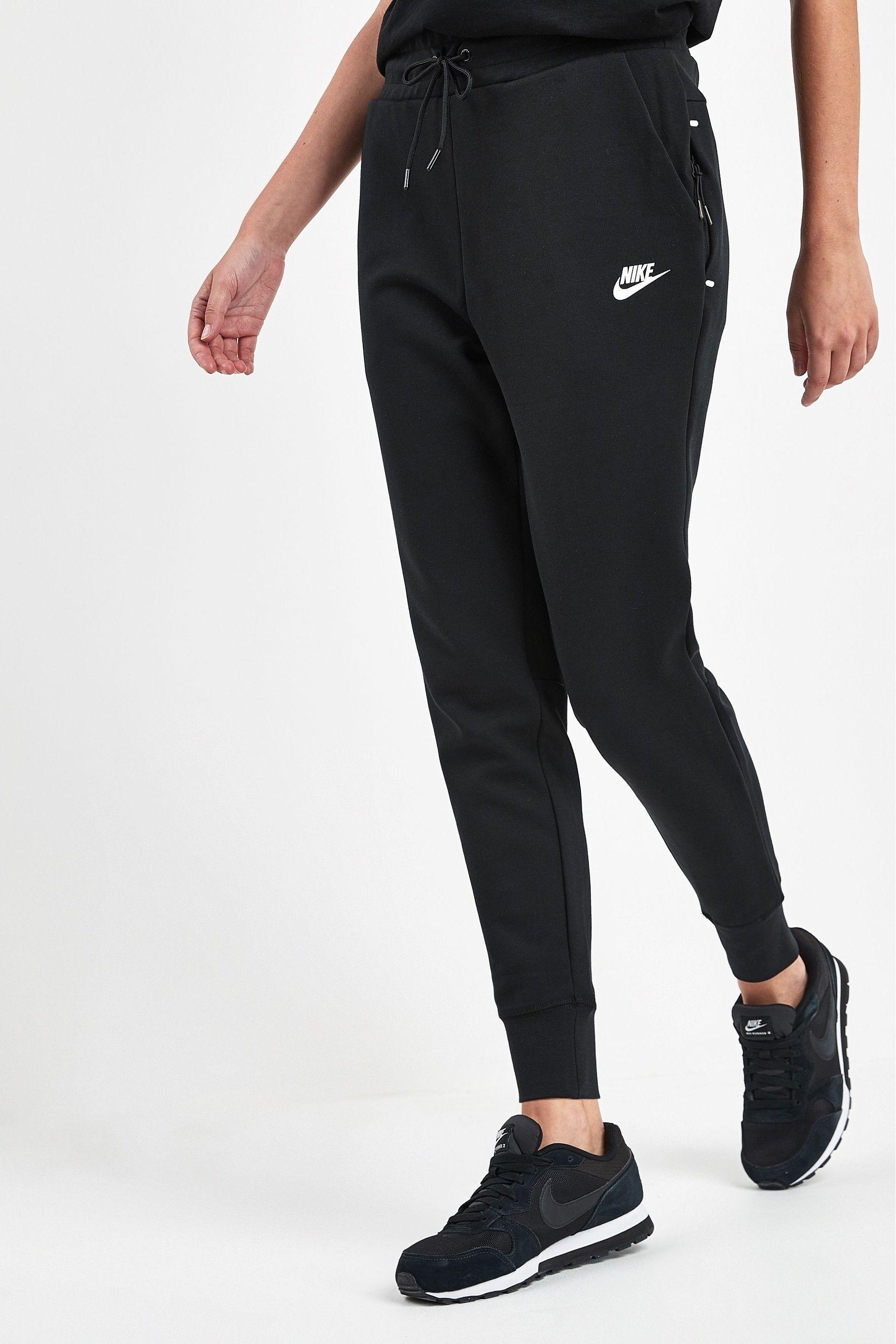 Womens Nike Tech Fleece Joggers - Black | Nike tech fleece ...