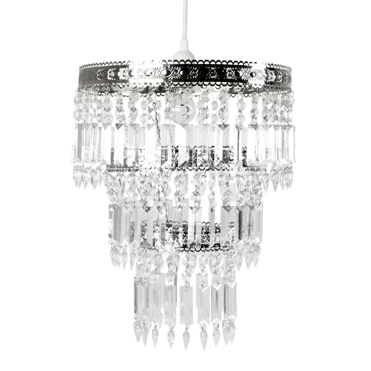 Sleeping Partners International Inc Tadpoles Faux Crystal And Chrome Queen S Crown Pendant Large Reviews Home Macy S Pendant Chandelier Pendant Light Fixtures Chandelier Shades