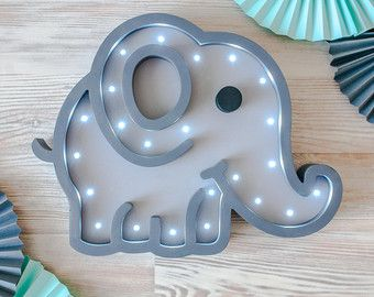 Gift for baby night light kids lamp minnie mouse battery operated elephant gifts elephant nursery decor elephant decor baby shower lamp elephant led wooden marquee lamp negle Images