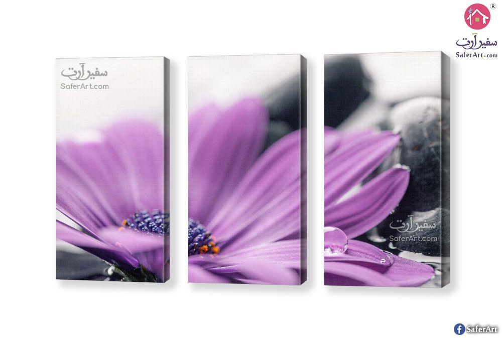 تابلوه مودرن ورده بنفسجى سفير ارت للديكور Flowers Violet Canvas