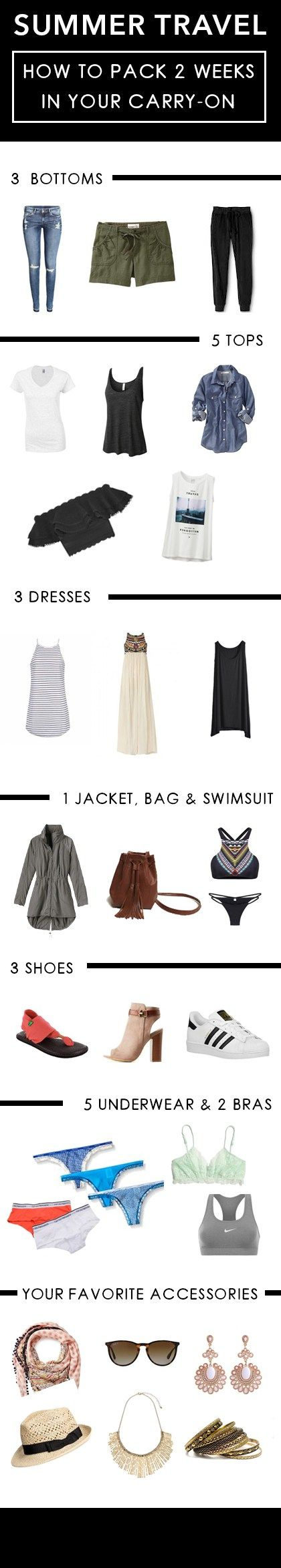 Summer Travel: How To Pack 2 Weeks In Your Carry-On - Society19