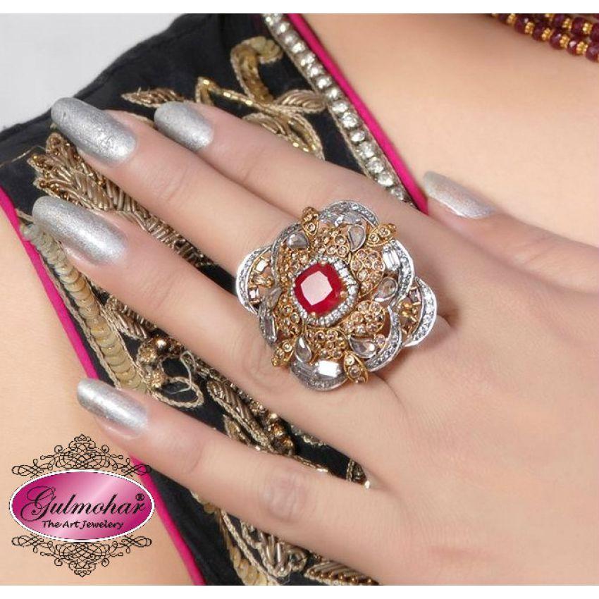 Traditional polki Ring Design Code: E-53 in Pakistan | Kaymu.pk ...
