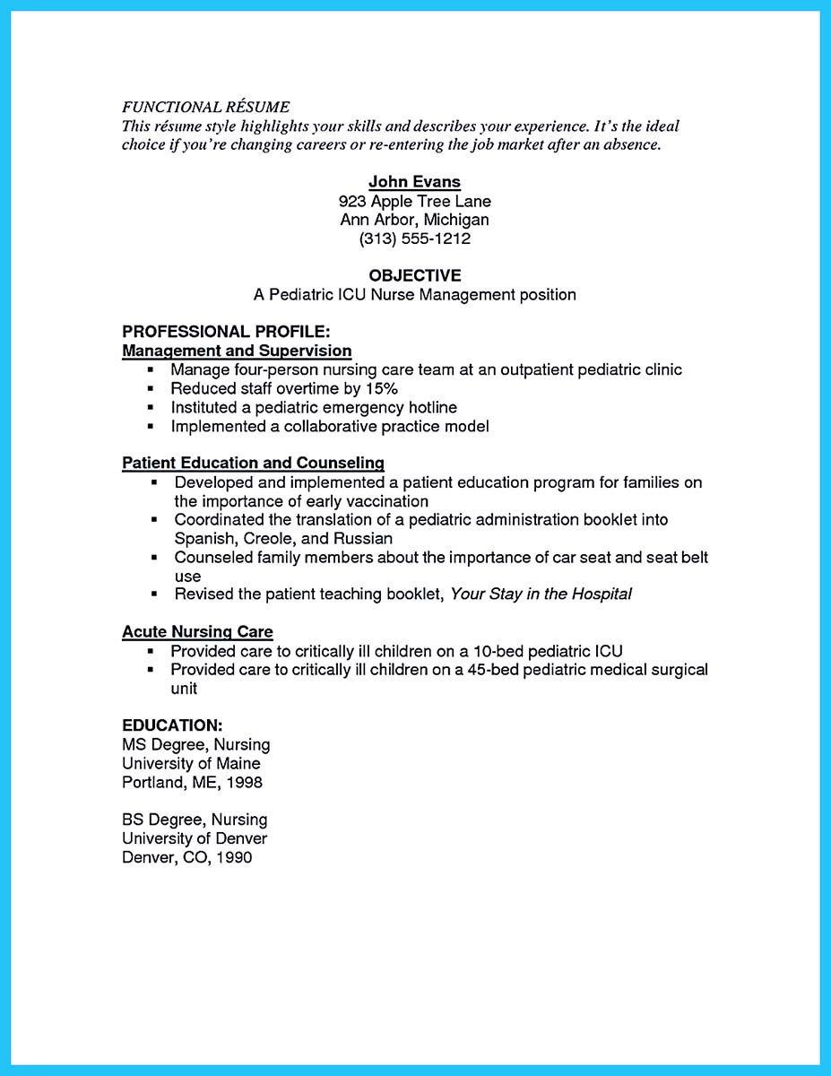 High Quality Critical Care Nurse Resume Samples Nursing