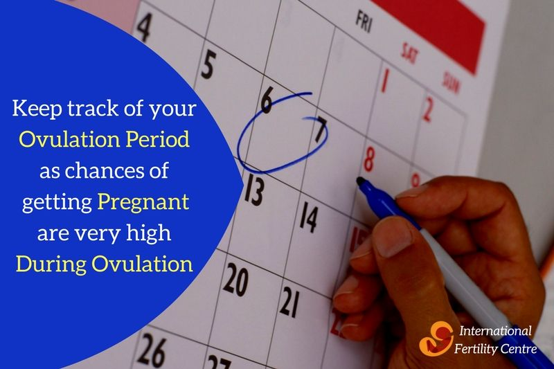 Keep track of your ovulation period as chances of getting pregnant