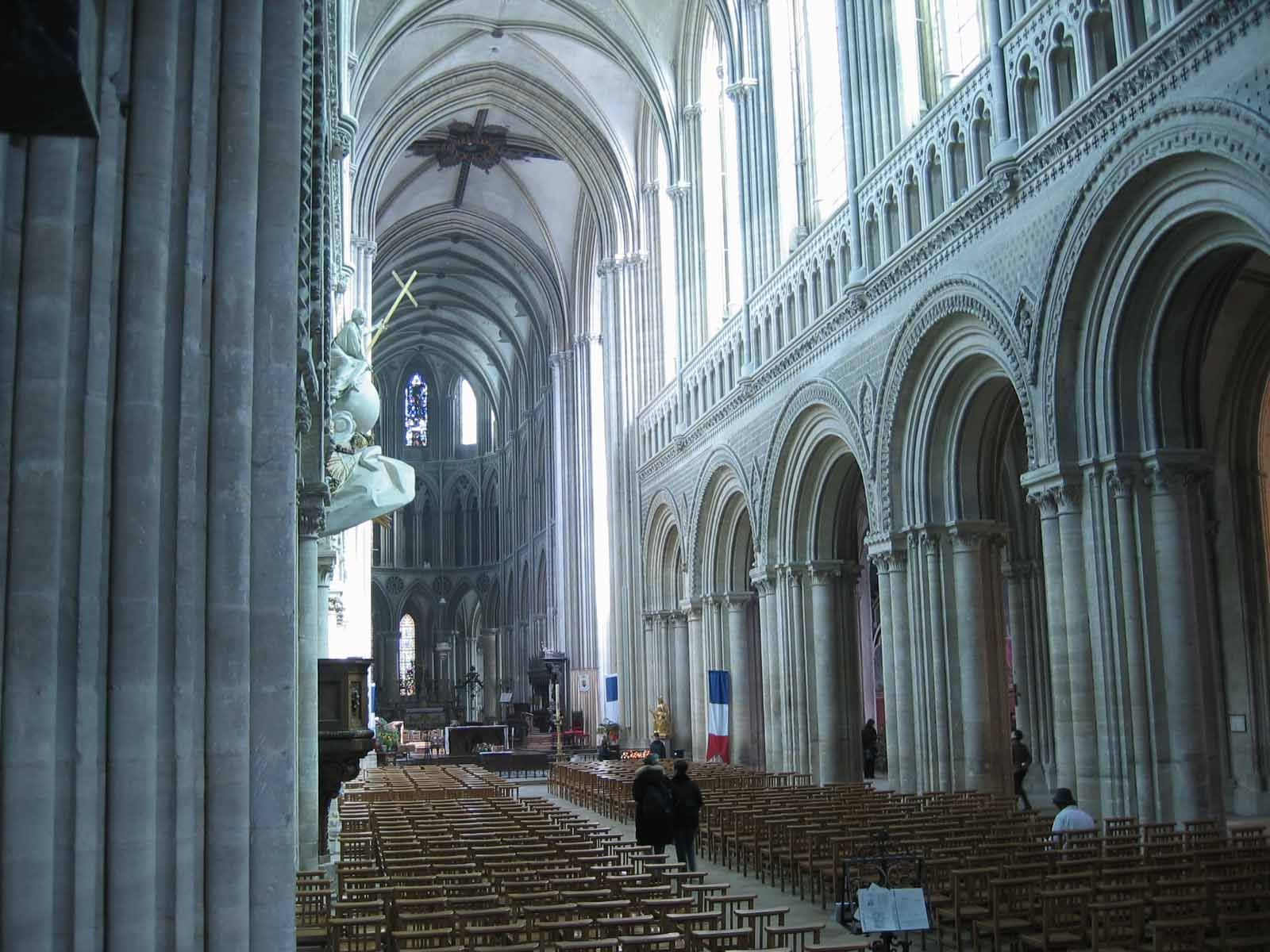 The Fabulous Romanesque Interior Of Bayeux Cathedral France
