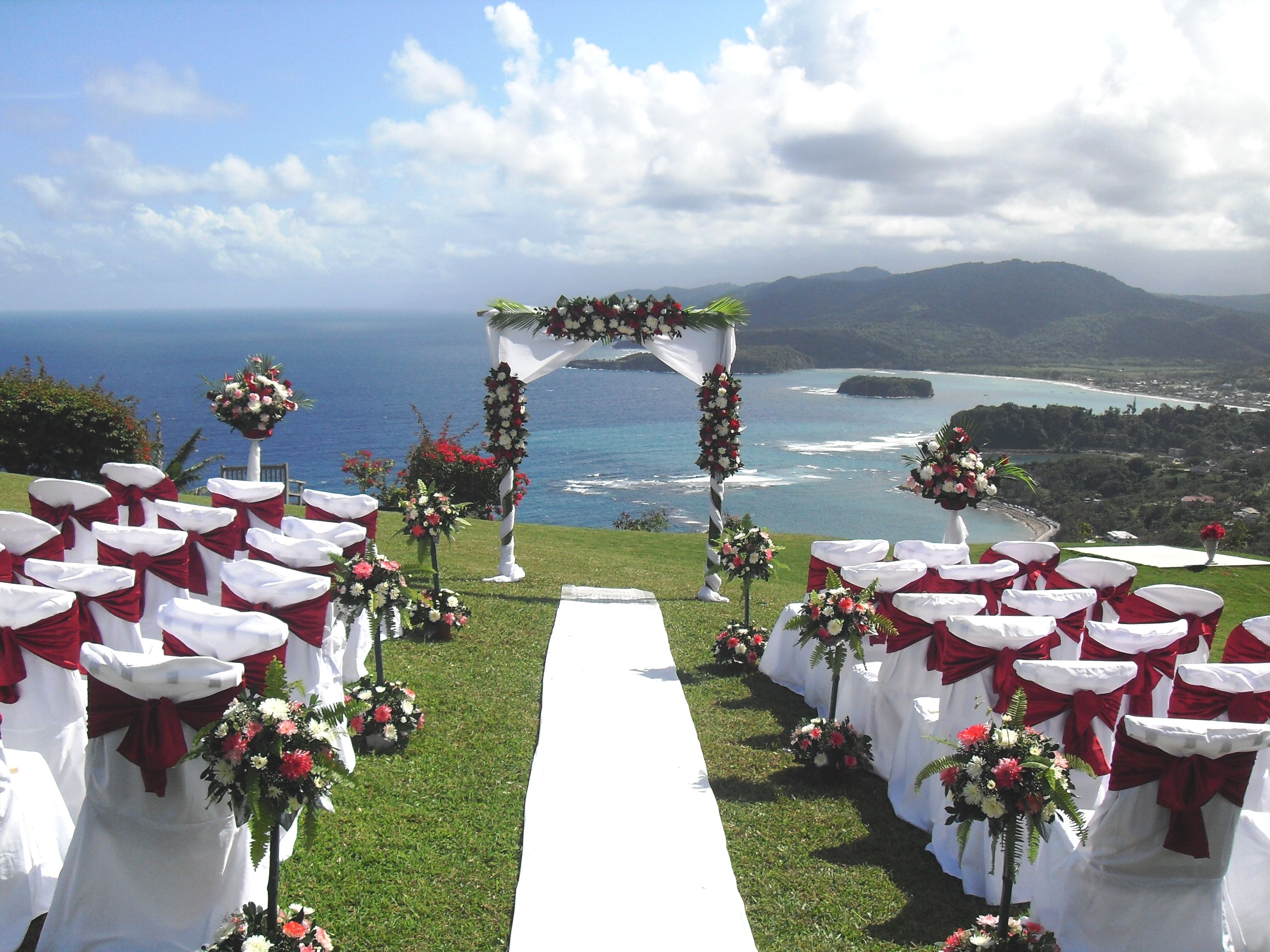 Wedding locations in jamaica jamaica wedding with a view for Beautiful places for weddings