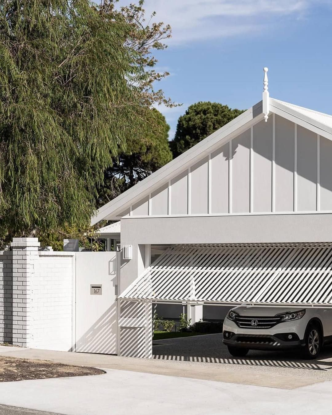 Now This Is A Carport I Can Get Behind You D Be Forgiven For Thinking This Was A Garage A Fantastic Use In 2020 Garage Door Design Carport Designs Building A Carport