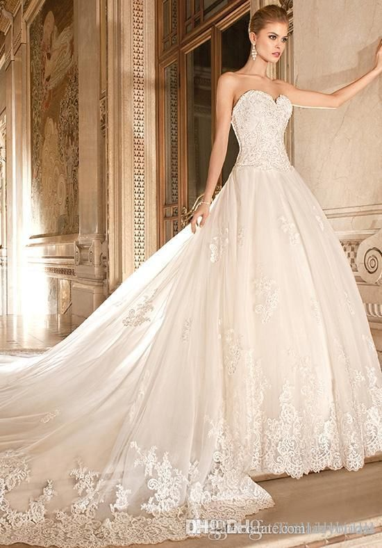 Wedding Dresses Ball Gown Sweetheart Country Long Train Google Search