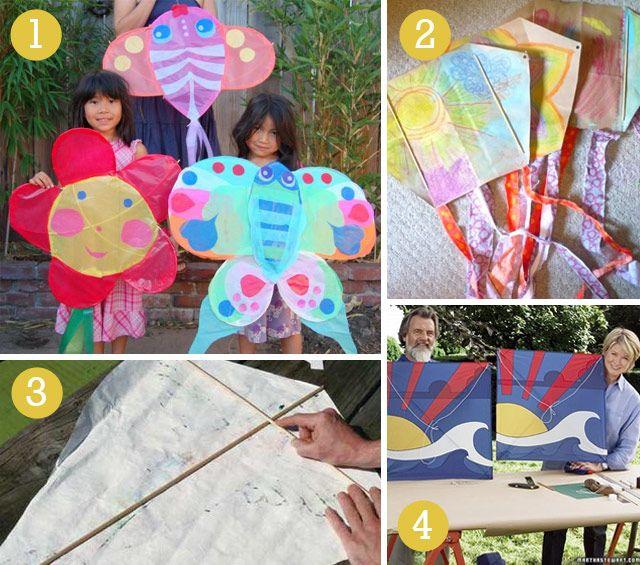DIY Kite tutorial blog. butterfly kite, grocery bag kite, paper kite, box kite, fabric kite