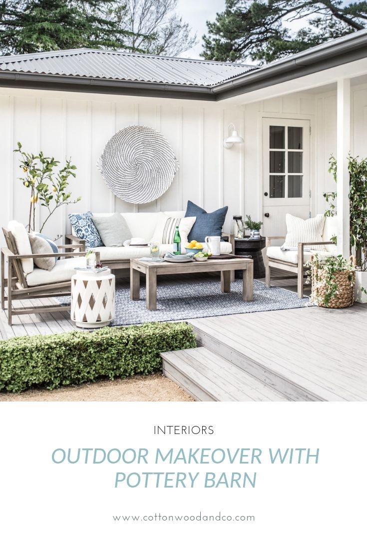 Our outdoor makeover with Pottery Barn #outdoorpatiodecorating