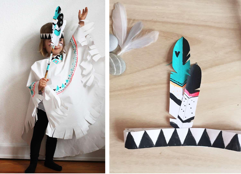 Diy Indianer Kostum Einfach Selber Machen Familicious Indianerin Kostum Indianer Kostum Kind Indianer Kostum Selber Machen