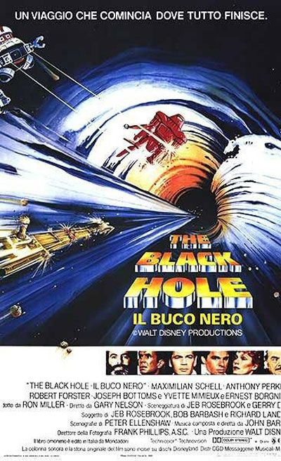 The Black Hole is a 1979 science fiction movie directed by Gary Nelson for Walt Disney Productions. Description from matttrailer.com.