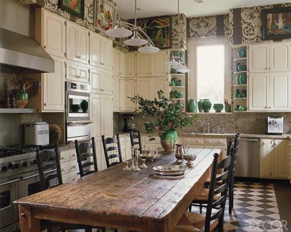 Table Sitting In The Middle Of The Kitchen It S Where Everyone Convenes Anyway So Make It That Way Irish Kitchen Decor Country Kitchen New Kitchen