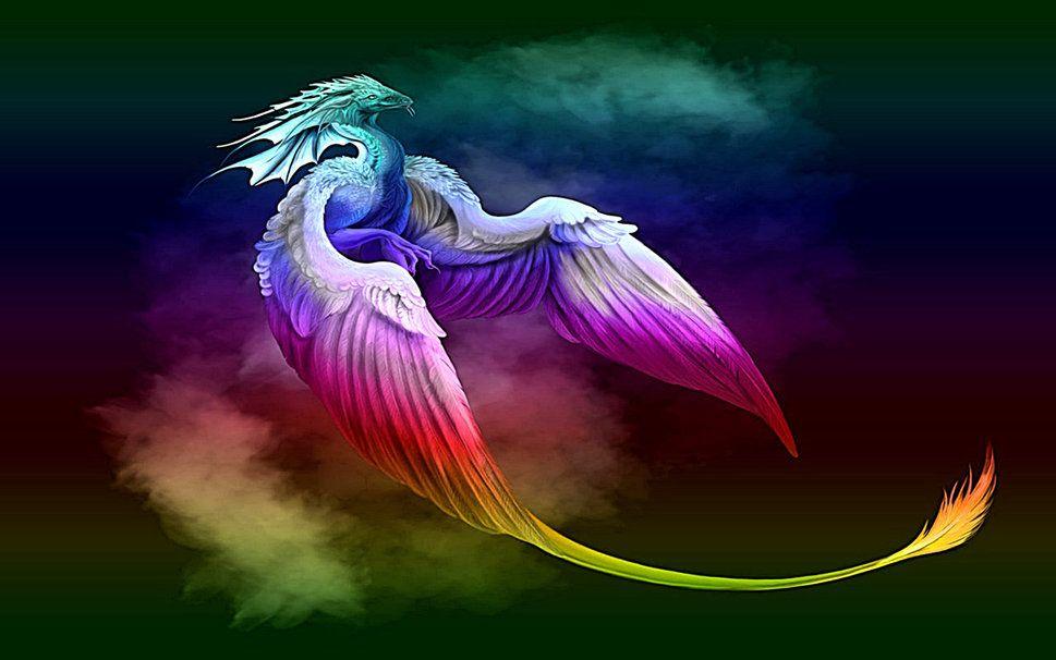 Dragon arc en ciel wallpaper dragon pinterest - Dragon arc en ciel ...