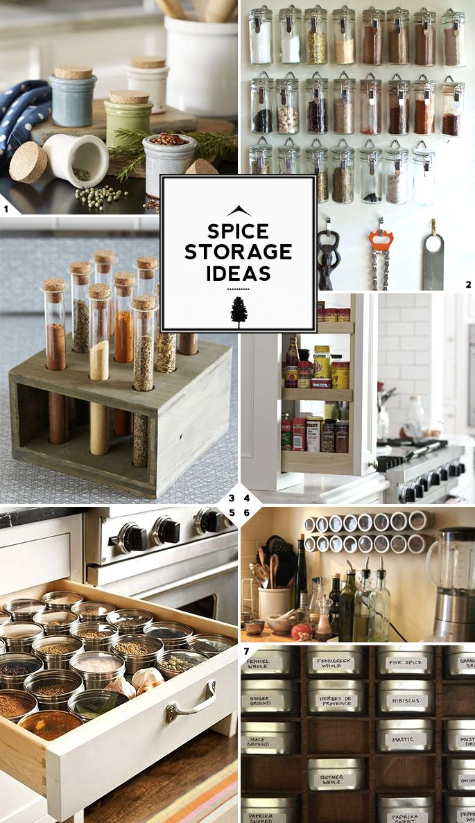 kitchen spice storage ideas
