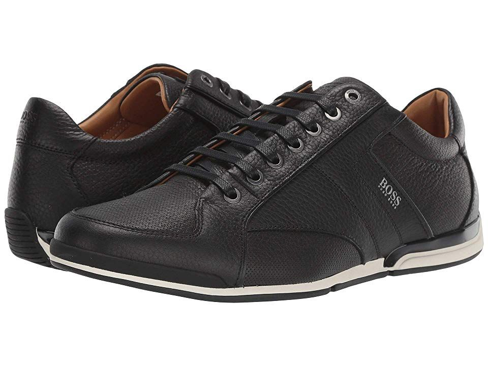 Hugo Boss Men/'s Saturn Dark Grey Memory Foam Sneakers Shoes