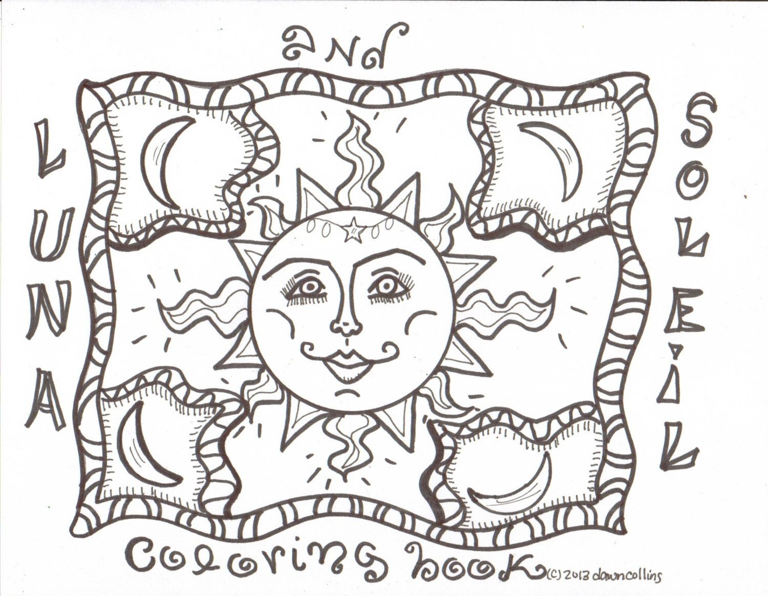 Coloring pages hippie - Hippie Coloring Book Luna And Soleil Mandala Coloring Book